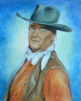 Acrylic Portrait of John Wayne by Theresa Stites