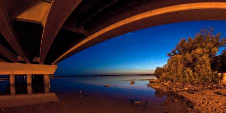 Panoramic Overpass Moonlight