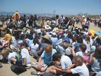 school kids for sand art in CA