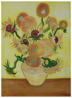 Sunflowers on Yellow (inspired by Van Gogh)