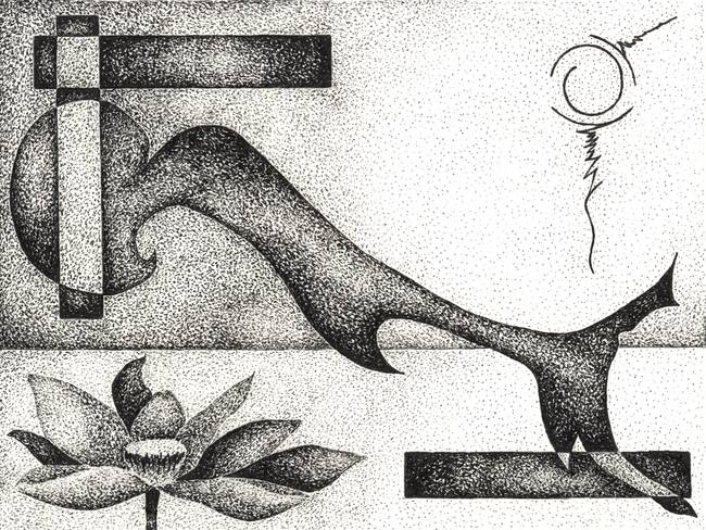 Pen Flower Abstract Art