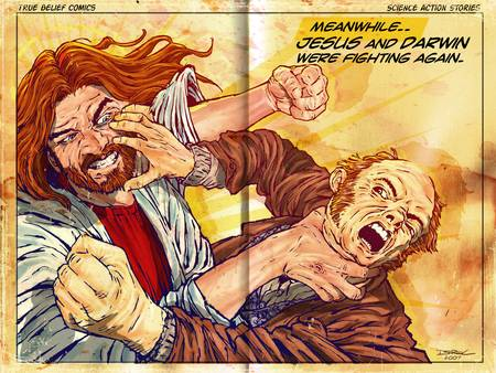 Jesus! vs Darwin! by Derek Chatwood