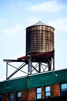 Water tower, New York City, USA
