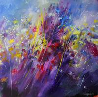 Abstract flower painting 2011