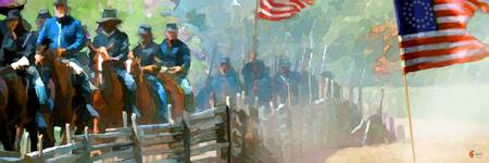 Union troops moving