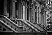 Brownstones on Upper Westside, New York City, USA