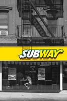 Eating at Subway, New York City, USA
