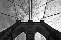 Tower of the Brooklyn Bridge, New York City, USA