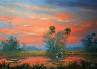 Everglades Fire Sky Painting