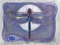 Dragonfly and the Moon