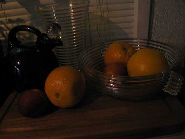 Still-life fruit - oranges in bowls