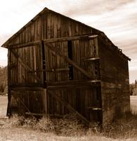Weathered Barn In Sepia