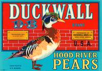 Duckwall Pears Fruit Crate Label