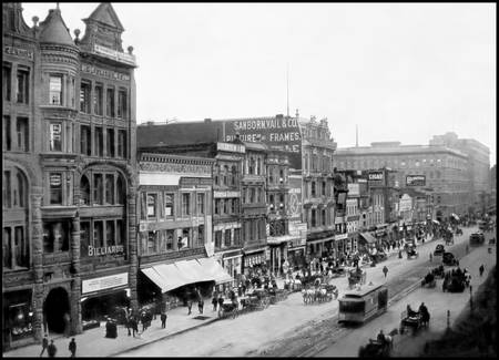 Market Street viewing west from 2nd Street, c1905