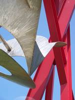 Abstract Red and Silver Sculpture II