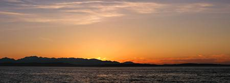 Alki Beach Sunset