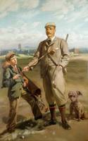 Freddie Tait, 1901 (oil on canvas) by John Henry L