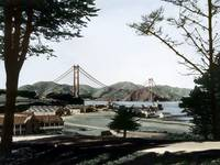 Golden Gate Bridge from the Presidio by WorldWide Archive