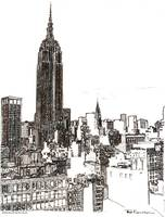 New York City Empire State Building Midtown by Ric