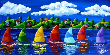 colorful sail colorful sail - Colorful Art