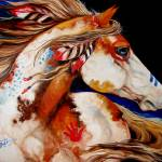 """INDIAN WAR HORSE"" by MBaldwinFineArt2006"