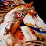 """INDIAN WAR HORSE"" by MBaldwinFineArt2006"