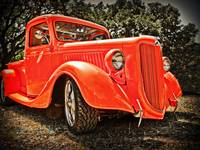 36 Orange Ford Pickup