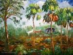 Hog hunting in Florida by Mazz Original Paintings