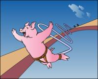 Bungee Jumping Pig