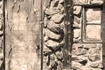"""Old Wood Door Window and Stone Sepia  BW by James """"BO"""" Insogna"""