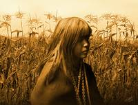 Mohave Indian Girl in Cornfield