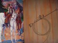 Cow Boy Mural with Lariat