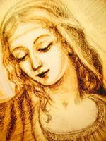 A 8 Madonna Drawing Detail