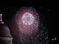 US Capitol Building w/Fireworks 6786