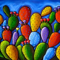 """""""Prickly Pear Cactus"""" by reniebritenbucher"""