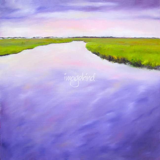 Purple Morning Marsh