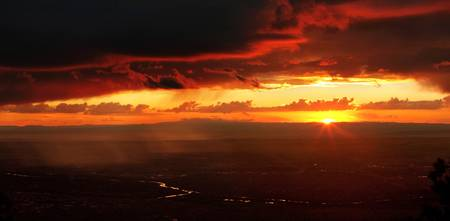 Monsoon at Sunset over Albuquerque, New Mexico