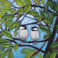 """""""Two Chickadees"""" by DreamGallery"""