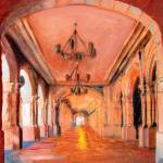 Walking In Balboa Park The Arches by RD Riccoboni