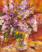 Lilac Still Life from Original Oil Painting by Gin
