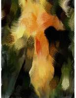 Yellow Iris Abstract