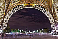 Eiffel Tower at Night HDR
