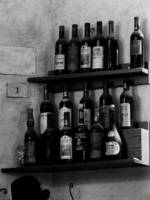 Wine Rack Black and White
