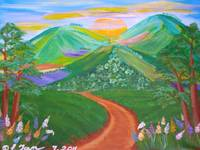Three Colorful hills