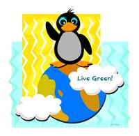 Live Green Penguin
