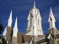 Mormon temple steeples