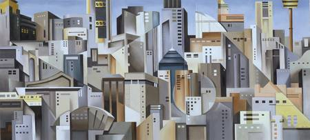 Composition Looking East, 2004 (oil on canvas)