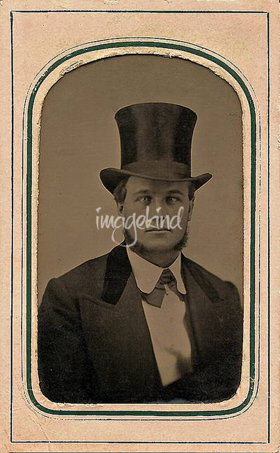tintype stovepipe hat  1860s  see this artwork on