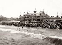 Neptune Casino at Santa Cruz Beach c1890 by WorldWide Archive