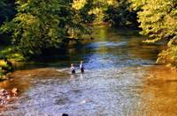 Boys Fishing in the Clear Fork